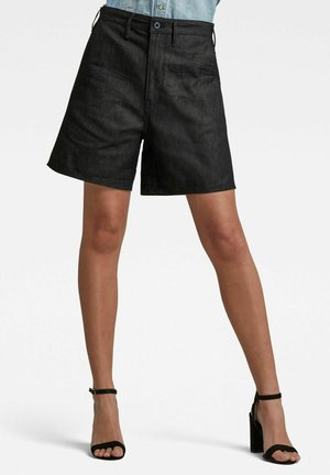 LINTELL SHORT - Denim shorts - pitch black