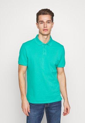 T-SHIRT KURZARM - Polo shirt - blue green
