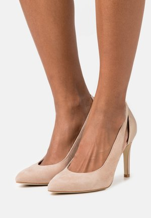 LEATHER - High heels - beige
