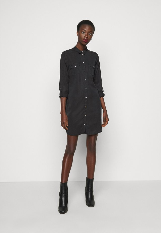 VMSILLA SHORT DRESS MIX  - Paitamekko - black