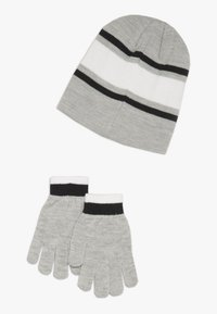 Nike Sportswear - STRIPE BEANIE GLOVE SET - Handsker - grey heather - 1