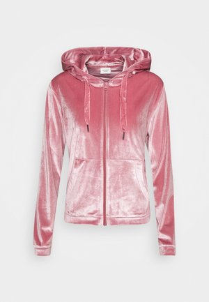 JDYVELVET ZIP HOOD - Zip-up hoodie - mesa rose