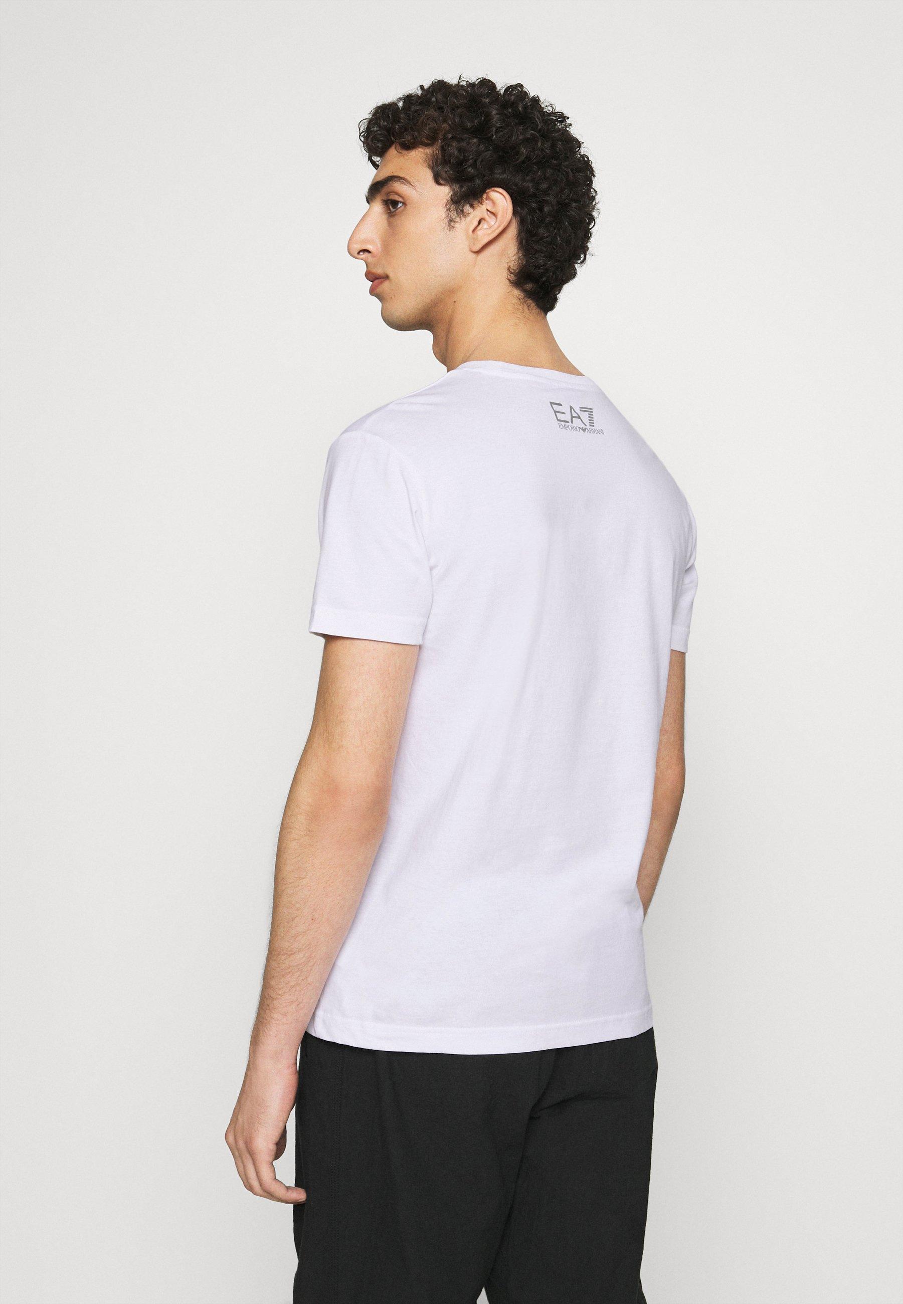 EA7 Emporio Armani Print T-shirt - white c0UKt