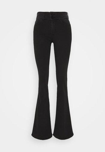 NEW LUZ PANTS - Flared Jeans - dark grey