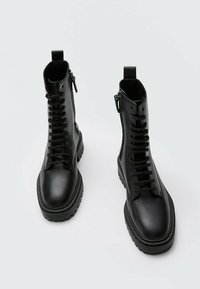 Massimo Dutti - Lace-up ankle boots - black - 1