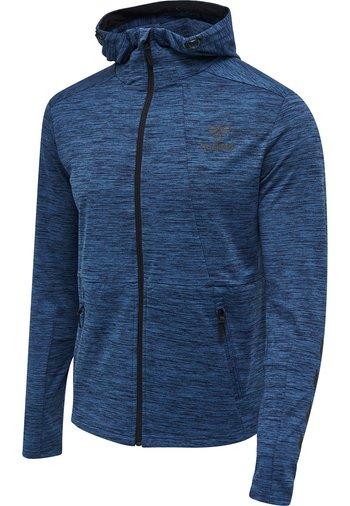 ASTON - Zip-up sweatshirt - black iris melange