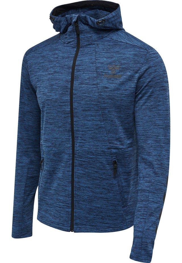 ASTON - Zip-up hoodie - black iris melange