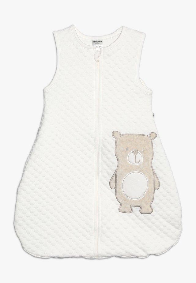 SLEEPING BAG HELLO WORLD - Śpiworek niemowlęcy - off white