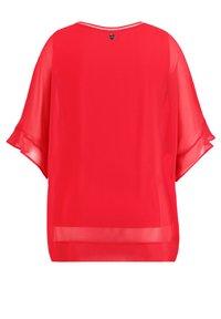 Samoon - 2-IN-1 BLUSE IM LEGEREN STYLE - Basic T-shirt - watermelon - 3