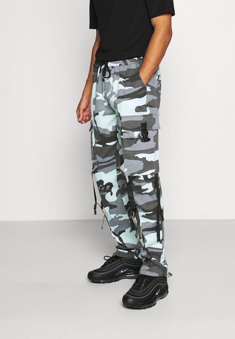 Sixth June - CAMO STRAP PANTS - Cargo trousers - blue