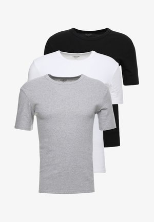 3 PACK - Tílko - grey/black/white