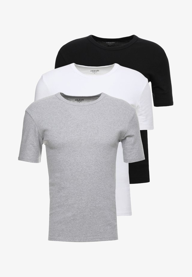 3 PACK - Tílko - grey/black/white