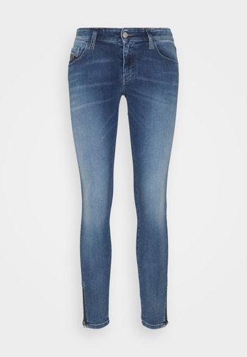 SLANDY-LOW-ZIP - Jeans Skinny Fit - light blue