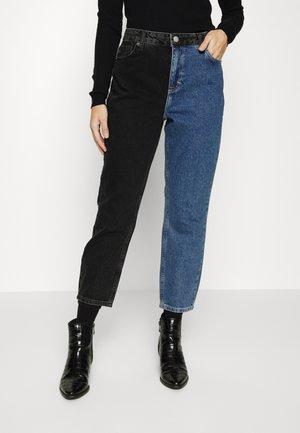 ONLINCJAGGER LIFE  - Relaxed fit jeans - black denim/light blue denim