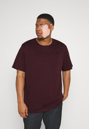 RAW EDGE TEE SPEZIAL - T-shirt basic - bordeaux