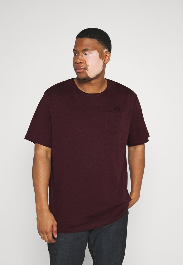 RAW EDGE TEE SPEZIAL - Basic T-shirt - bordeaux