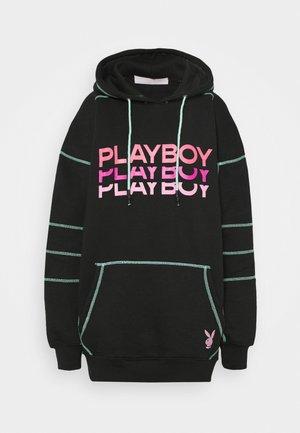 PLAYBOY TRIPLE LOGO CONTRAST STITCH  - Sukienka letnia - black