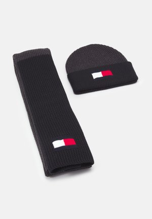 BIG FLAG SCARF & BEANIE UNISEX SET - Szal - dark ash