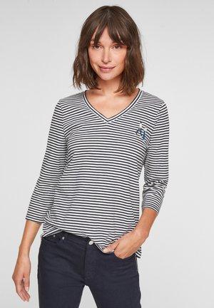 Longsleeve - dark blue stripes