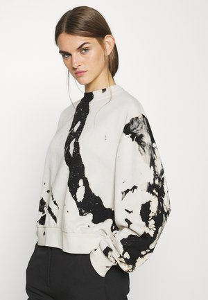 AMAZE PRINTED - Sweatshirt - white/black