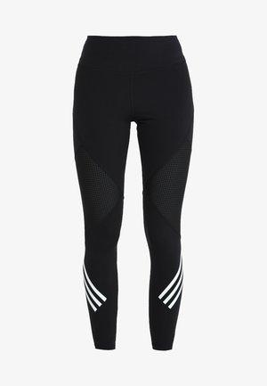 SPORT HIGH WAIST LEGGINGS - Tights - black/white