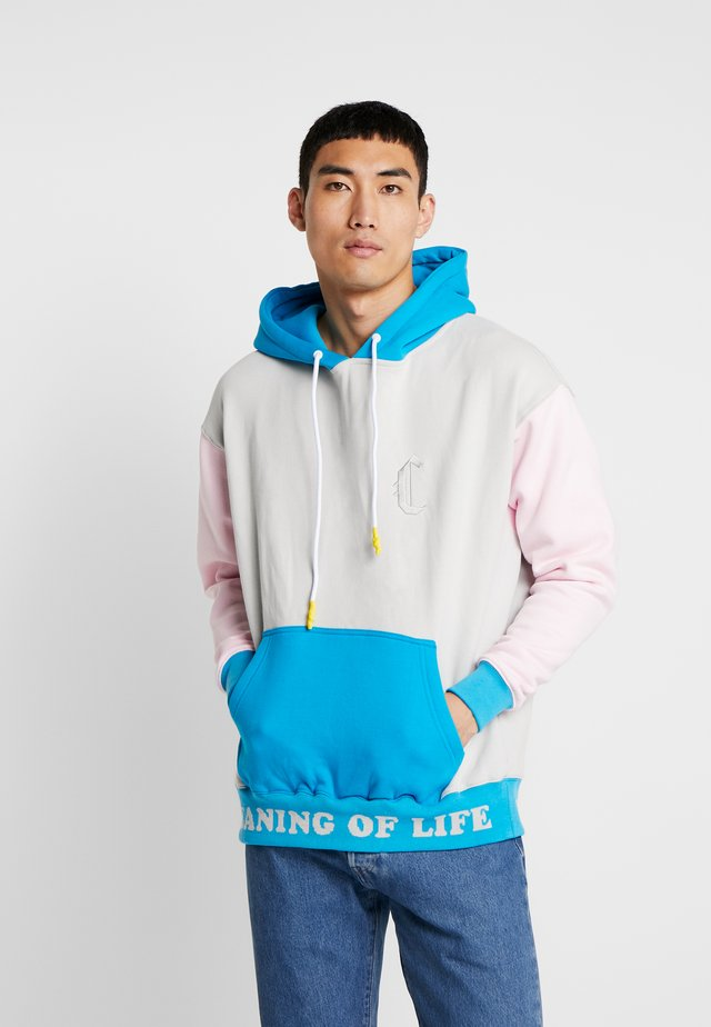 COOP OF LIFE BOX HOODY - Sweat à capuche - grey/light pink