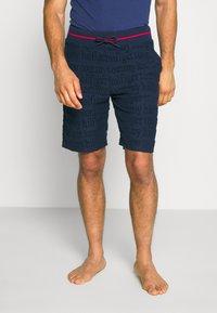 Tommy Hilfiger - SHORT LOGO - Pyjama bottoms - blue - 0