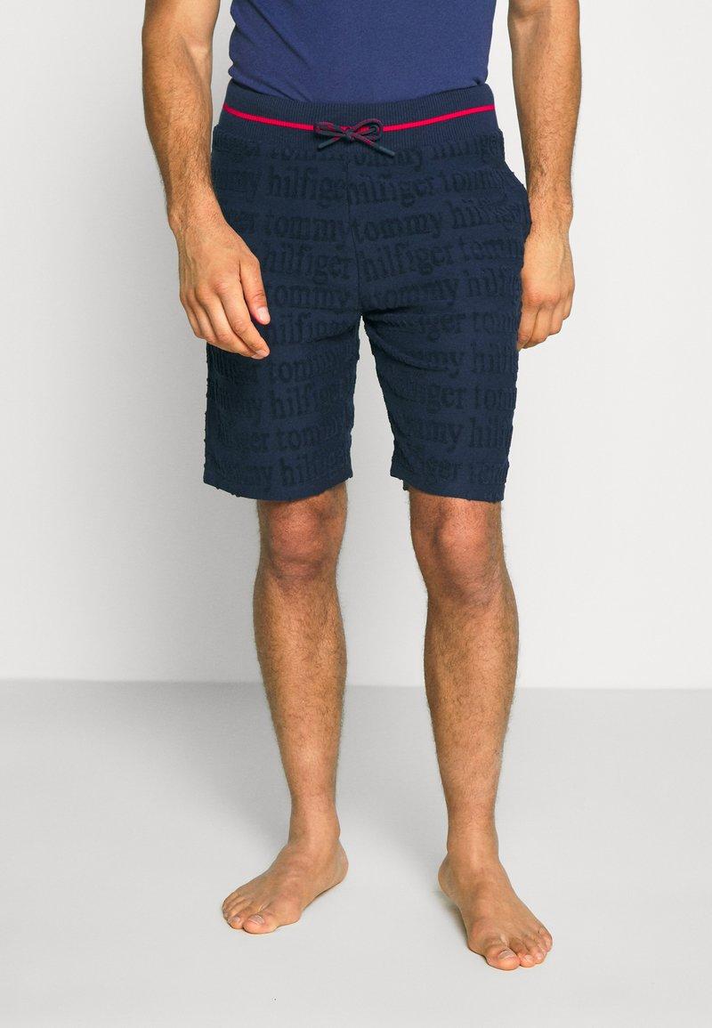 Tommy Hilfiger - SHORT LOGO - Pyjama bottoms - blue