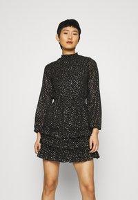 Dorothy Perkins - SPOT MINI RUFFLE - Day dress - black - 0