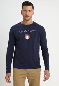 GANT - SHIELD - Long sleeved top - evening blue - 0