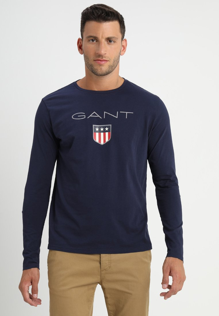 GANT - SHIELD - Long sleeved top - evening blue