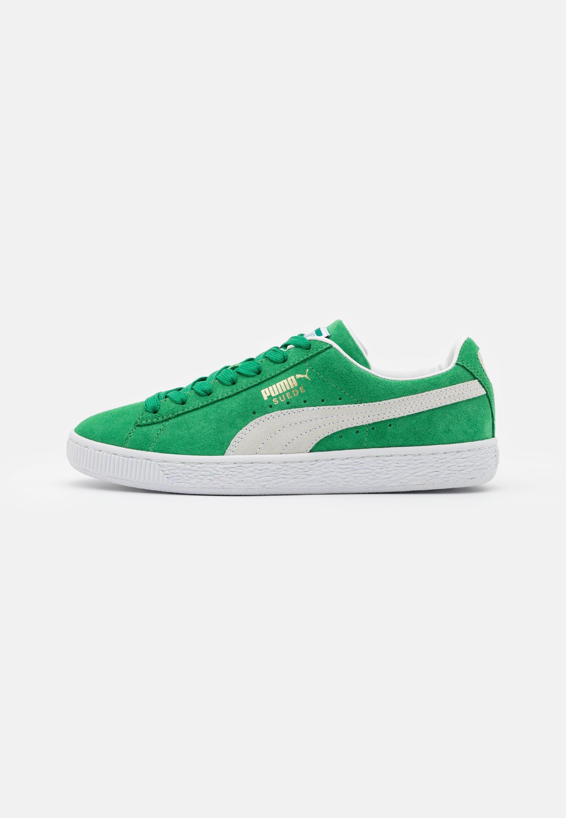 Puma SUEDE TEAMS - Baskets basses - green/white/vert - ZALANDO.FR