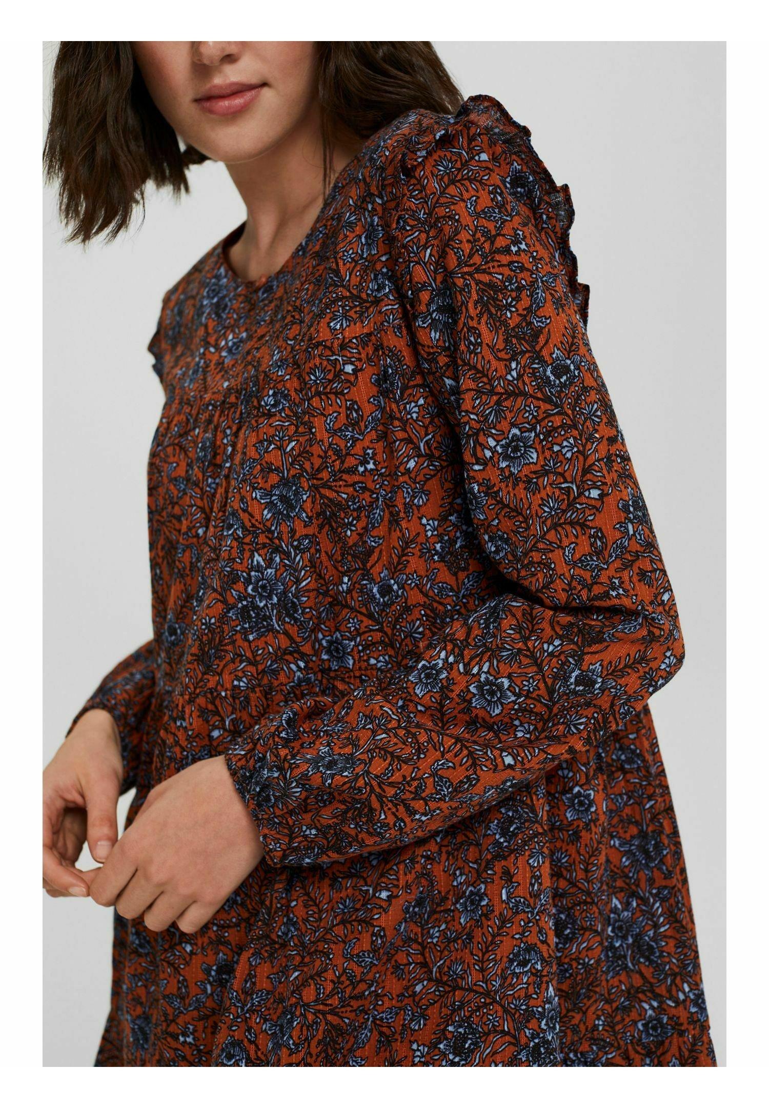 Damen Freizeitkleid - rust orange