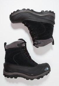 The North Face - CHILKAT III - Winter boots - black/dark gull grey - 1