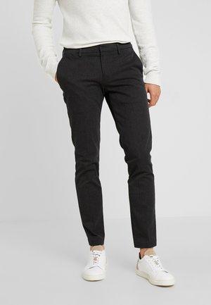 SMART SUPREME FLEX TAPERED - Trousers - black