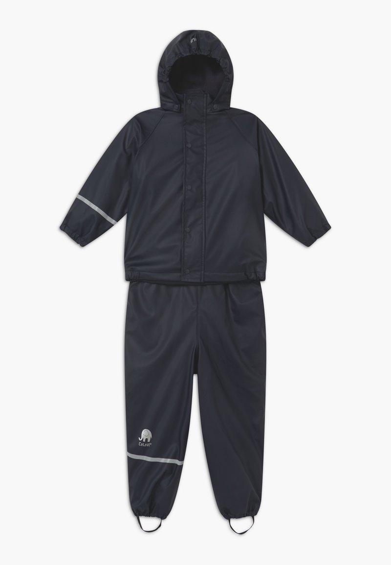 CeLaVi - RAINWEAR SET UNISEX - Pantalones impermeables - navy