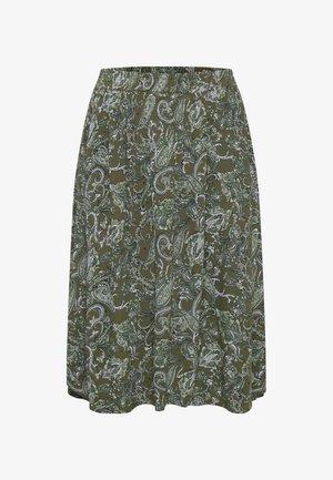 KCERNA AMI - Áčková sukně - green paisley print