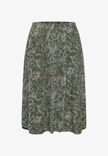 KCERNA AMI - A-line skirt - green paisley print