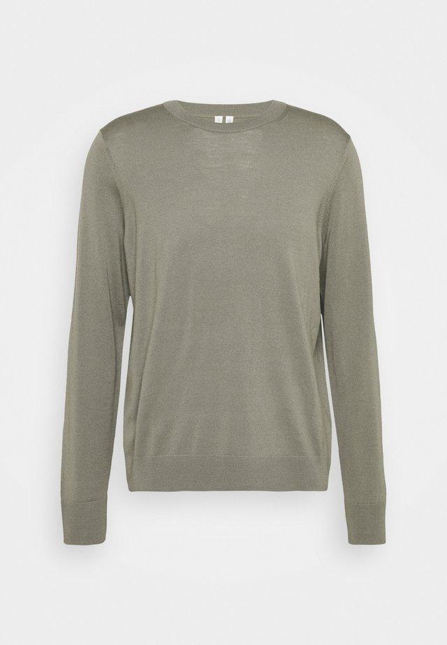 Stickad tröja - khaki green