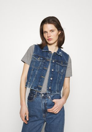 VEST CROPPED - Liivi - blue denim