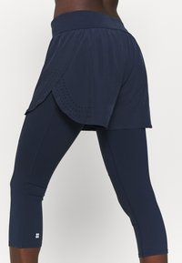Sweaty Betty - POWER DOUBLE UP WORK OUT LEGGINGS - Tights - navy blue - 5
