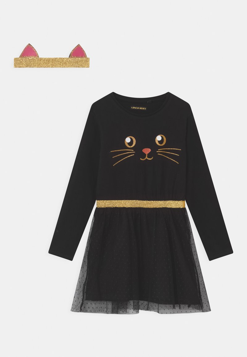 Lemon Beret - SMALL GIRLS  - Jersey dress - black