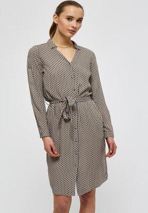JASMINA - Shirt dress - shadow dot steel grey print