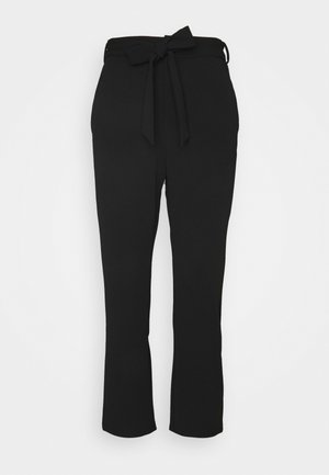 SMART TROUSERS WITH BELT - Trousers - black