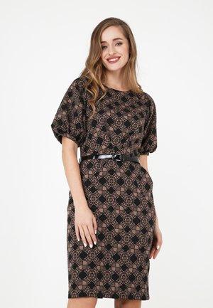 NATALI - Day dress - schwarz/ beige