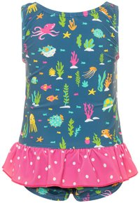 Frugi - OEKO TEX LITTLE CORAL REEF SWIMSUIT BABY - Swimsuit - blue - 1