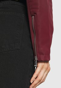 Guess - NEW KHLOE JACKET - Faux leather jacket - deep burgundy - 5