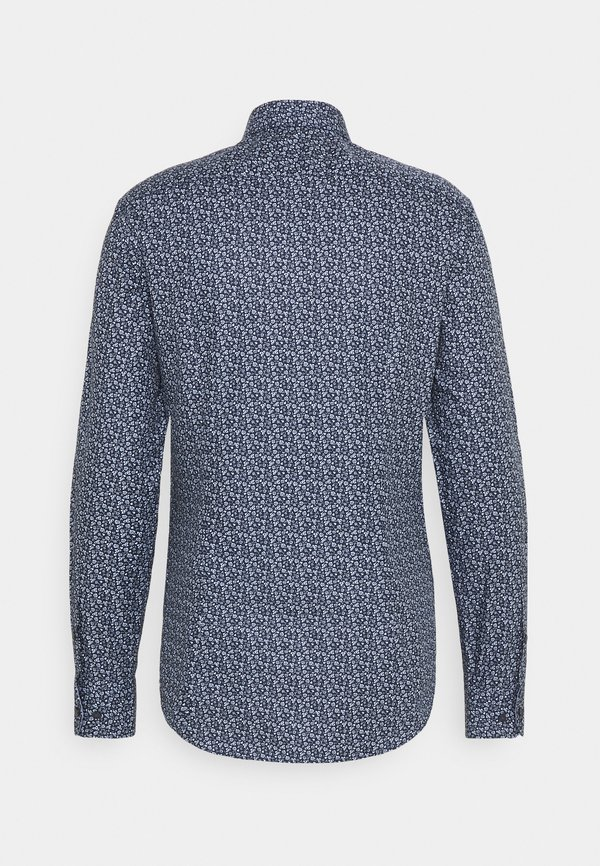 Tommy Hilfiger Tailored FLORAL PRINT SLIM FIT - Koszula - navy/blue/granatowy Odzież Męska XVWJ