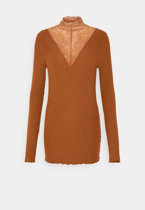 PCSIRI TNECK - Long sleeved top - mocha bisque