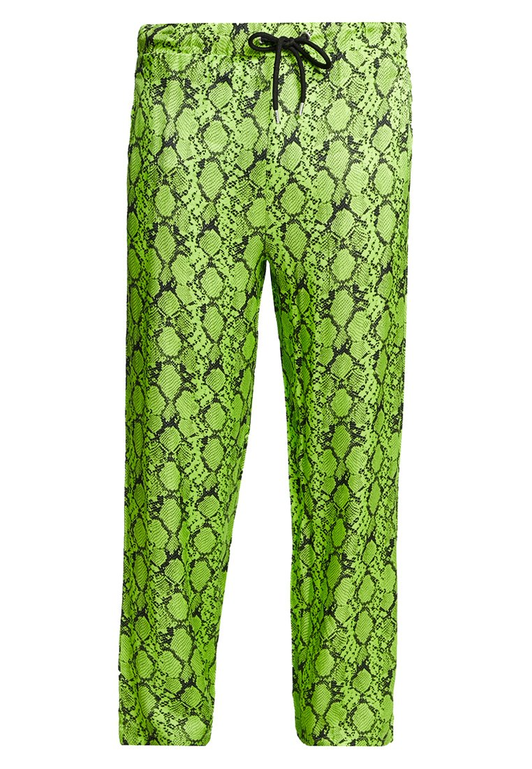 Jaded London SNAKESKIN PANT Bukse neon green Zalando.no